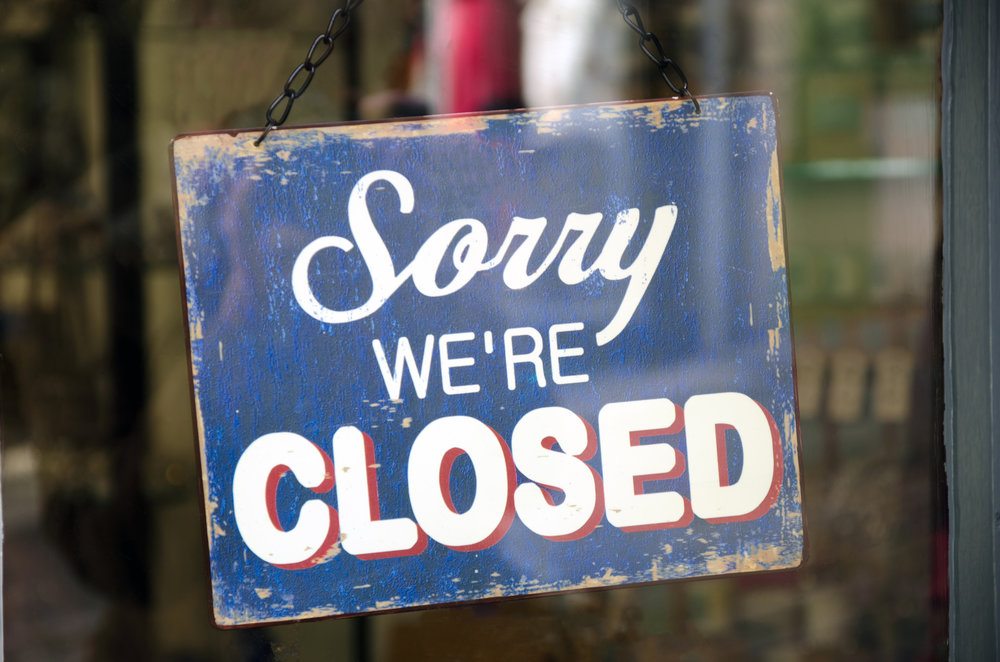 Lots of restaurants closed down or merged in 2017.