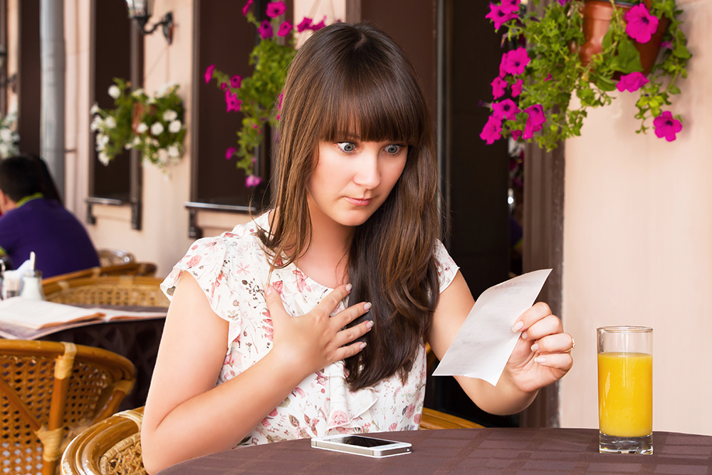 Don't try to hide the fact you're implementing a restaurant service surcharge on guests' bill.