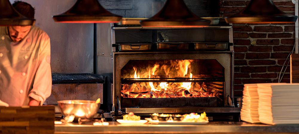 open, visible restaurant kitchens
