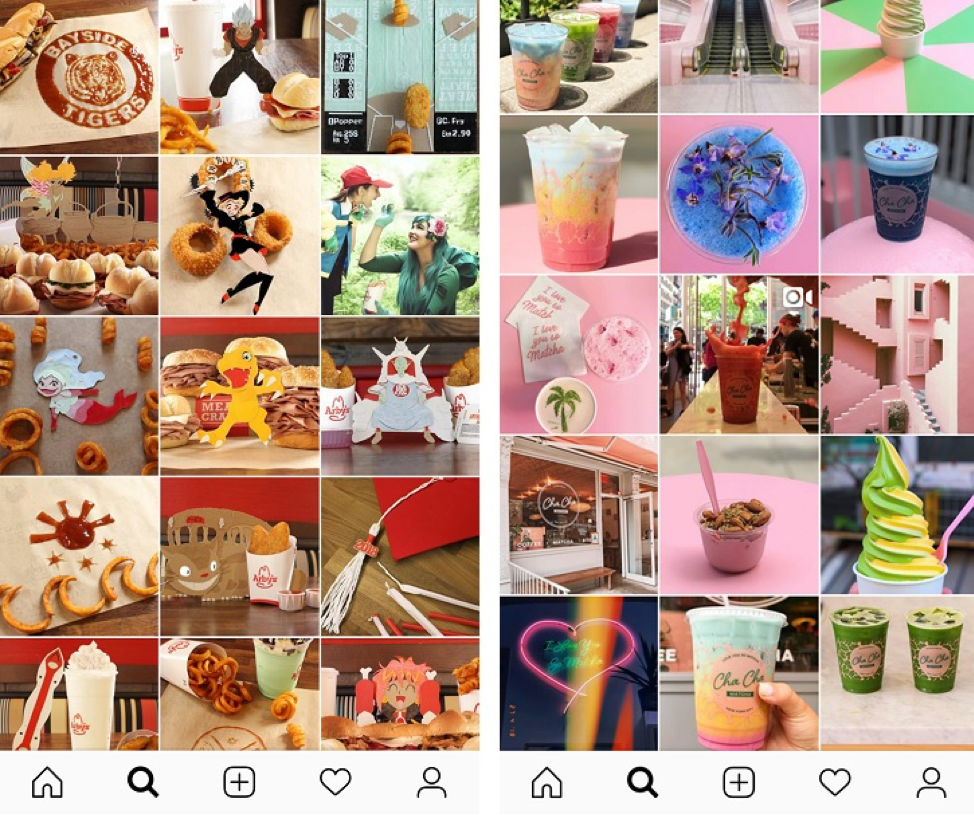 Restaurant Instagram Tip: Don't forget your brand when creating social media images.