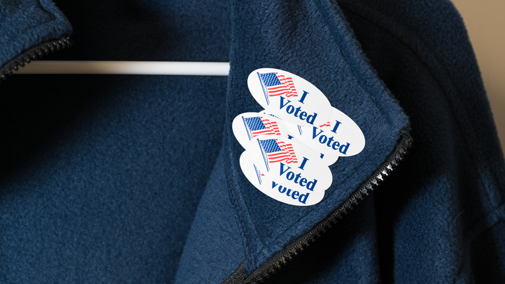 Reward guests with 'I voted stickers' with free food or drink.