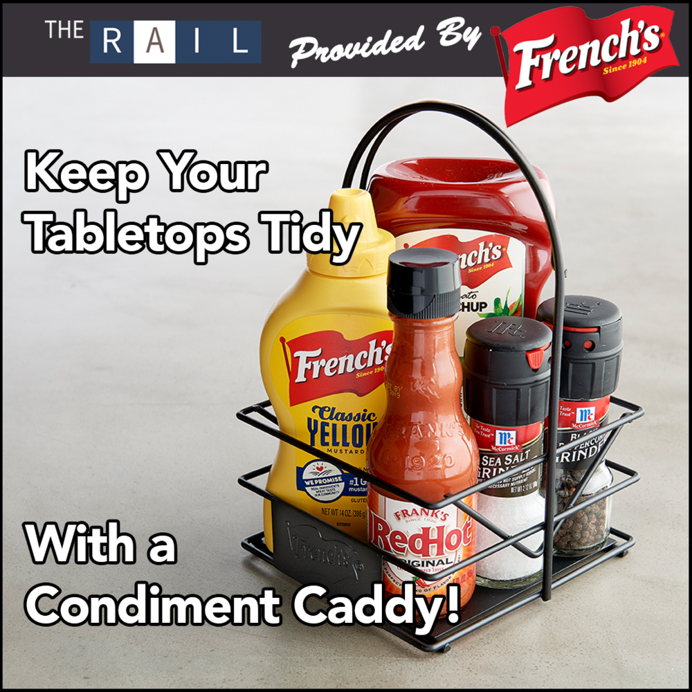 Restaurant tabletop caddy hack