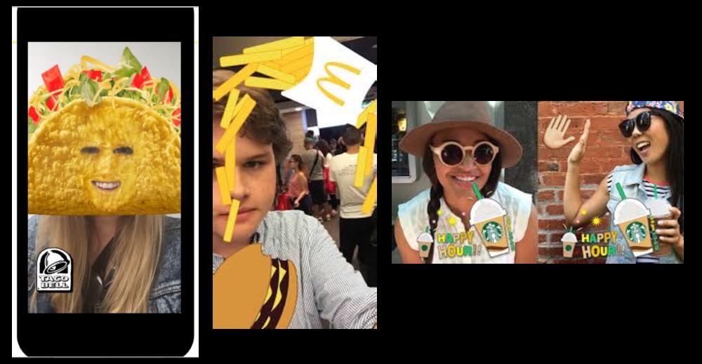 Restaurant social media geotagging filters