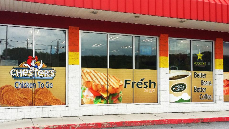 Restaurant Window Decals