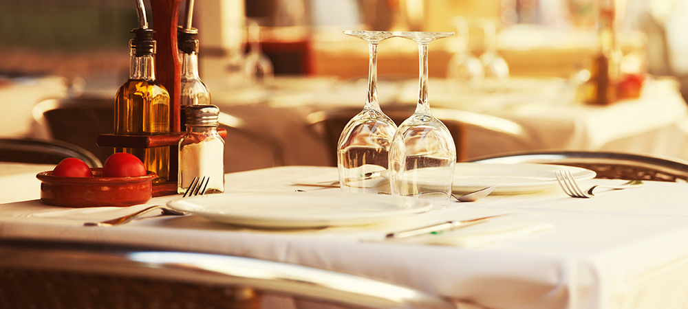 Keep restaurant tables flat and even.