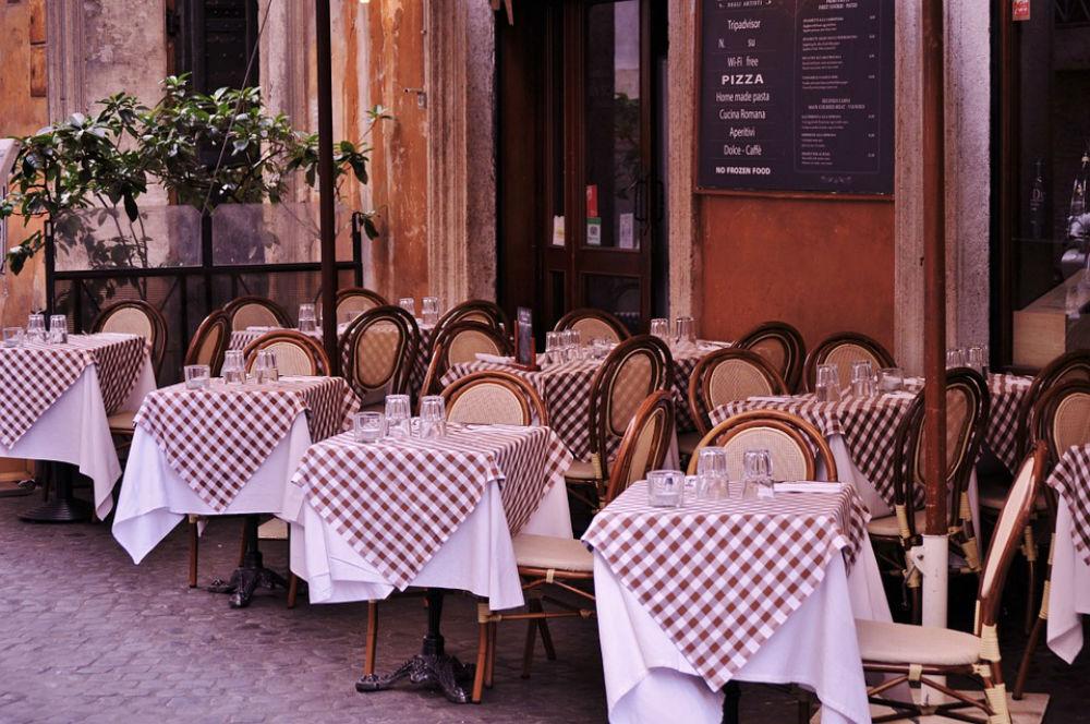 Restaurant patio outdoor seating