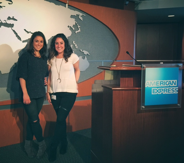Sarah & Rachel presenting at American Express