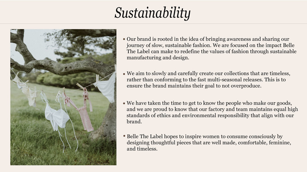 01bdd0411c4 Belle The Label Sustainability — Belle the Label - Bohemian Boho Luxe  Basics Apparel, Swimwear, and Intimates Clothing