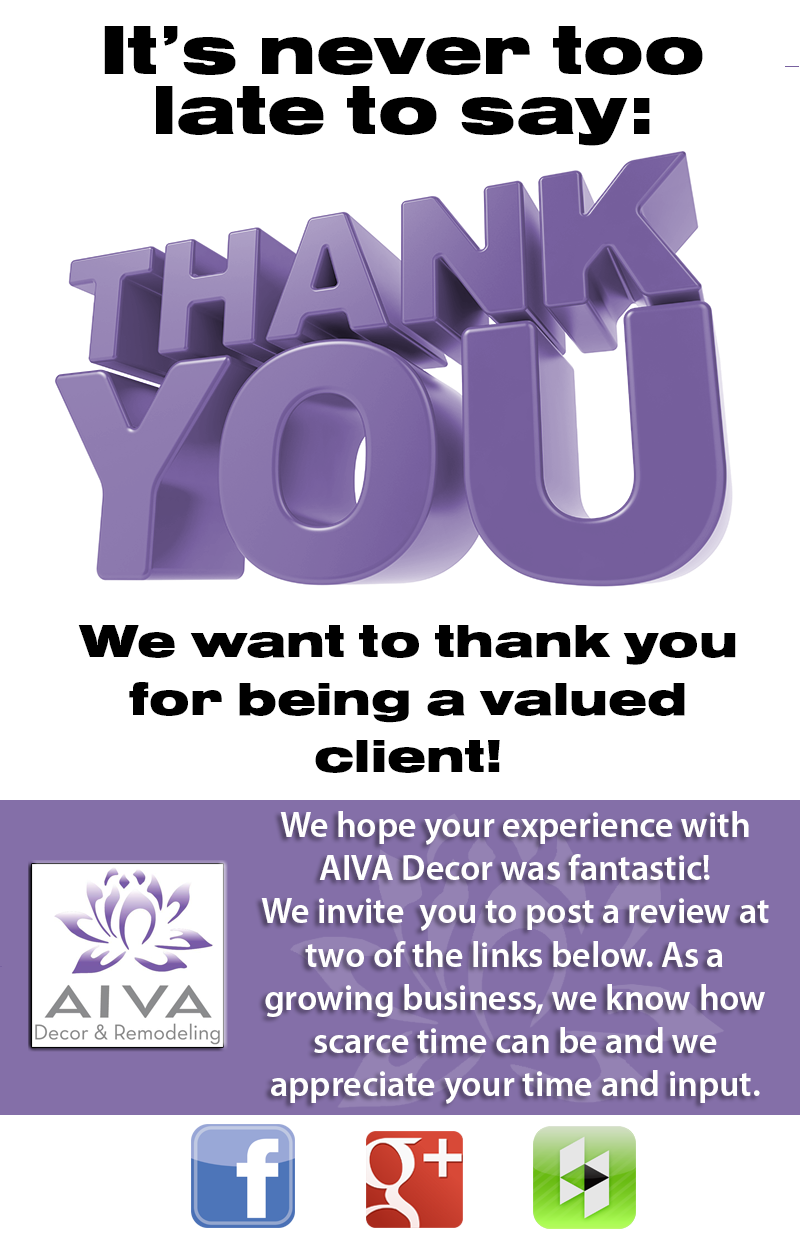 Thank you from AIVA Decor