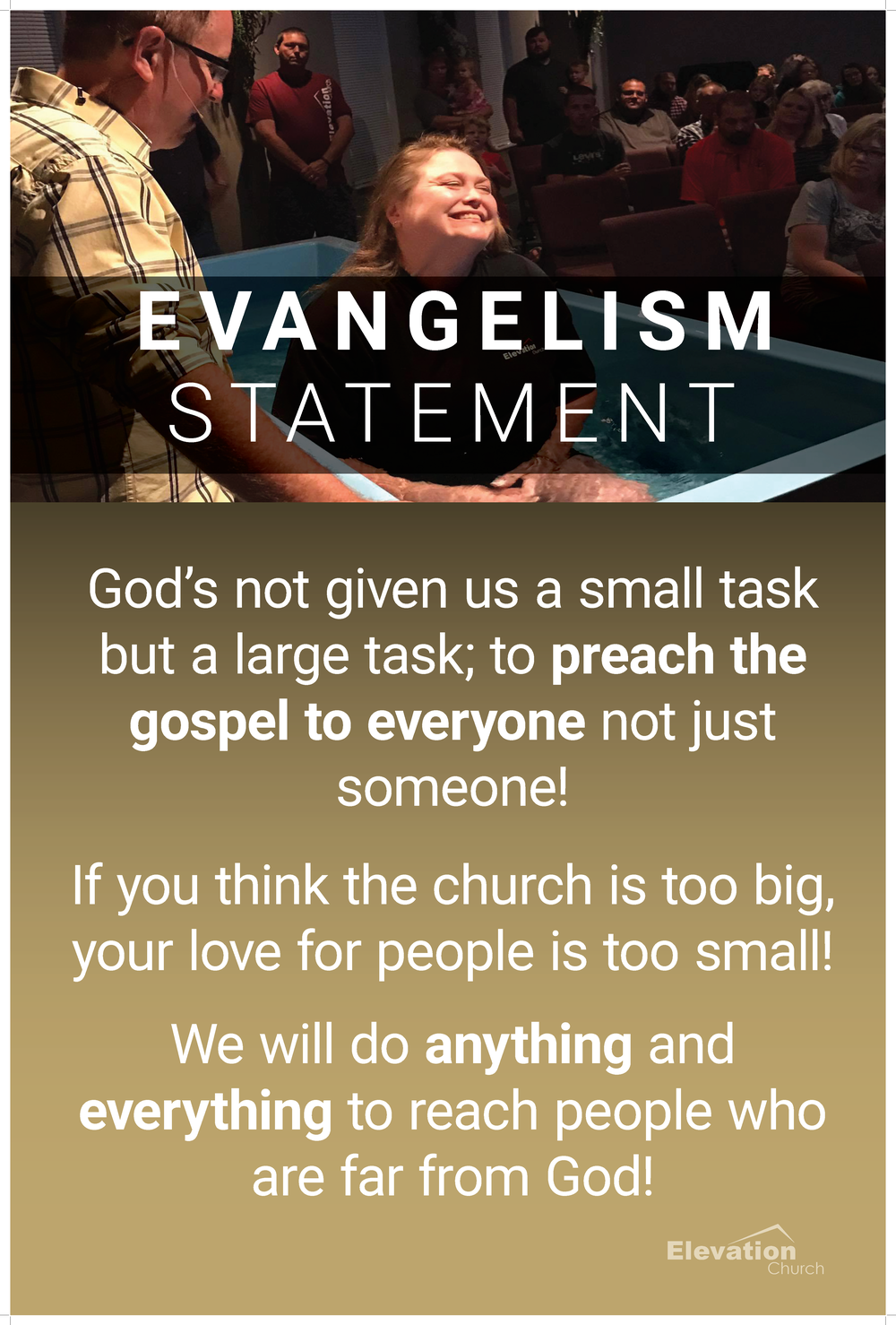 Elevation Church Ministries Statements for Foyer Wall 3