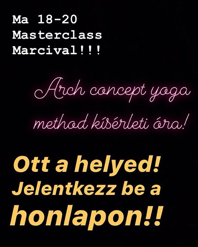 Today is the day!! #archconcept #archconceptyoga