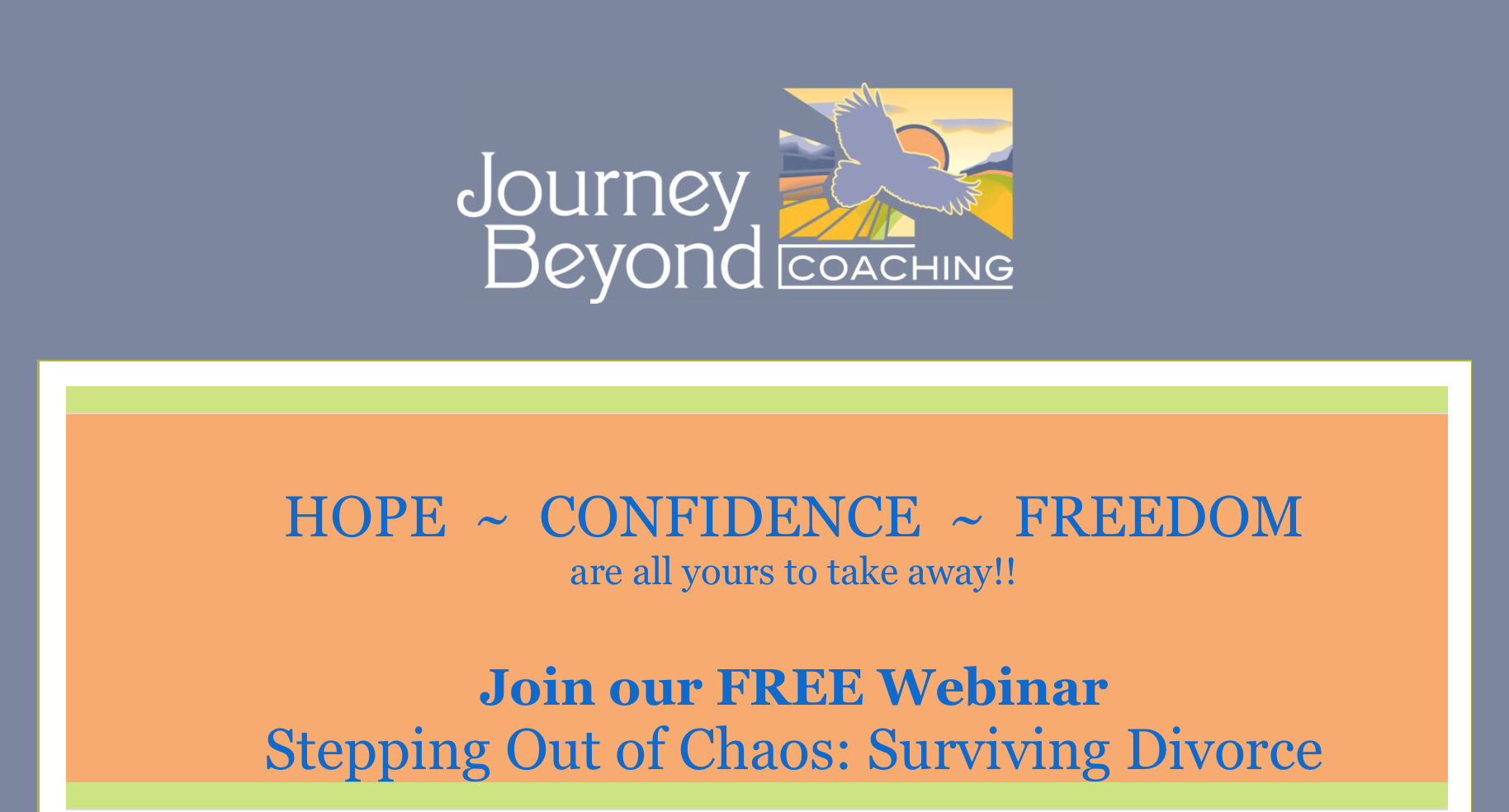 Live Webinar Stepping out of Chaos