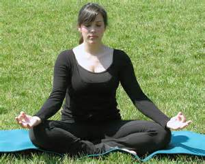 woman sitting meditation