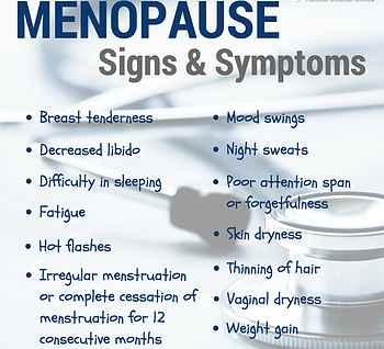 Some common signs and symptoms of menopause