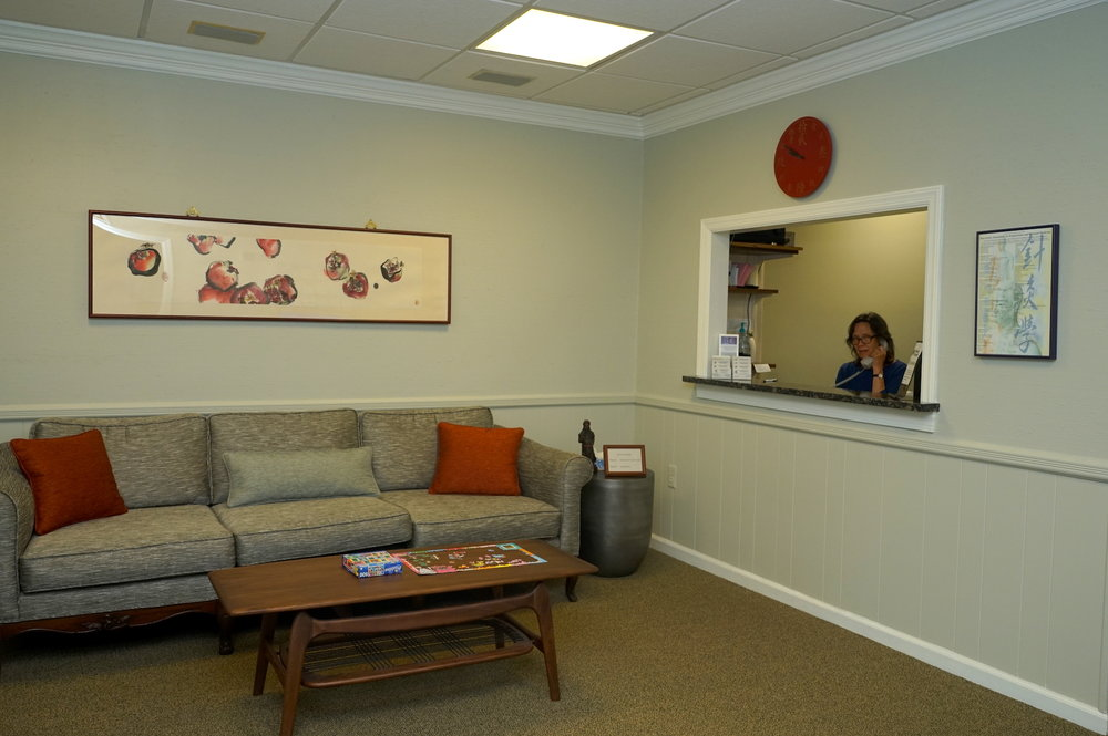Welcome to our comfortable homestyle waiting room, relaxation start here
