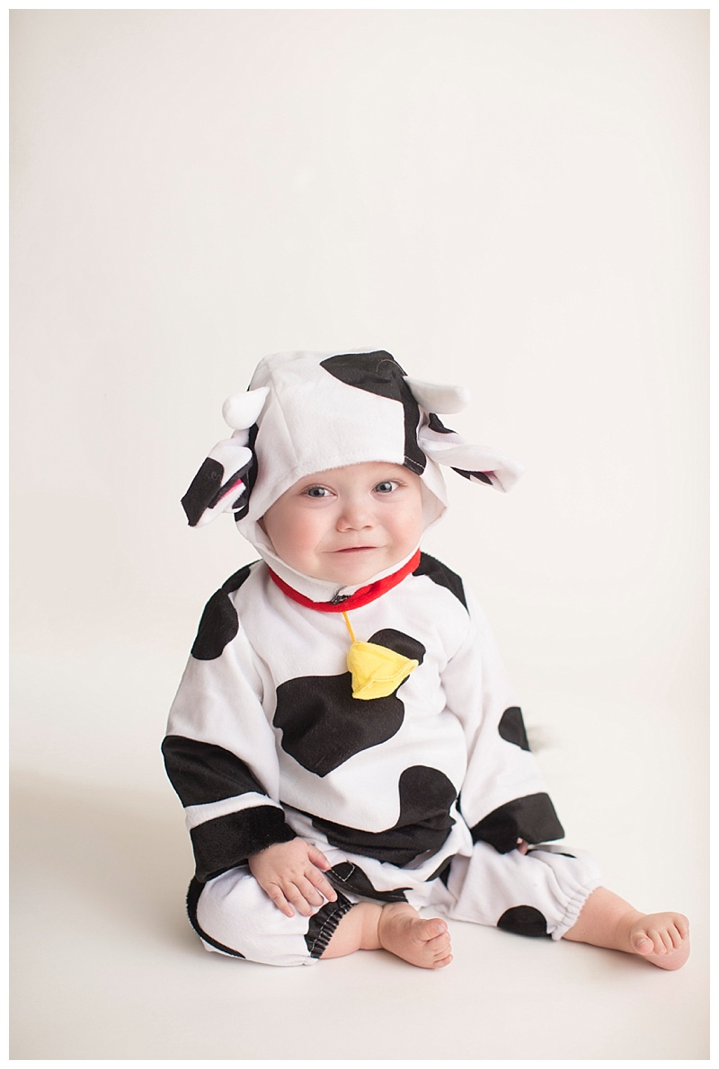 Finn is modeling his Chickfila cow suit here! If you visit the Rte 17 Chickfila part of the proceeds go toward UVA children's hospital to help kids like Finn!!