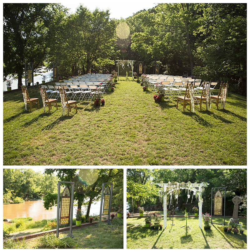 Ceremony location is right out of a fairy tale book!