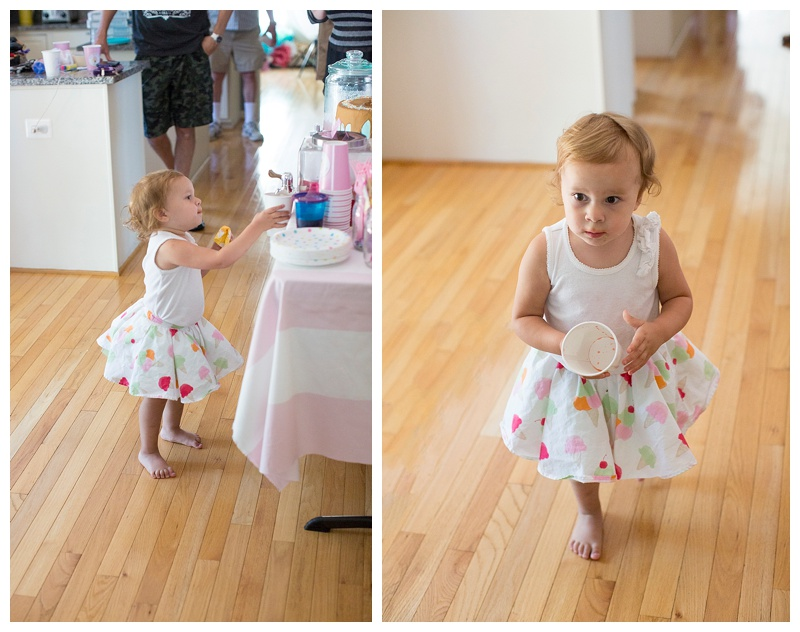 Birthday girl rocking her adorable ice cream cone skirt!!!!