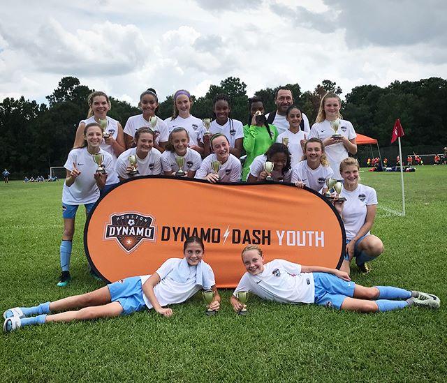 HOT, but successful first tournament of the season!  #dynamodashyouth #houstonyouthcup2018 #sweatingfordays #texasinaugust