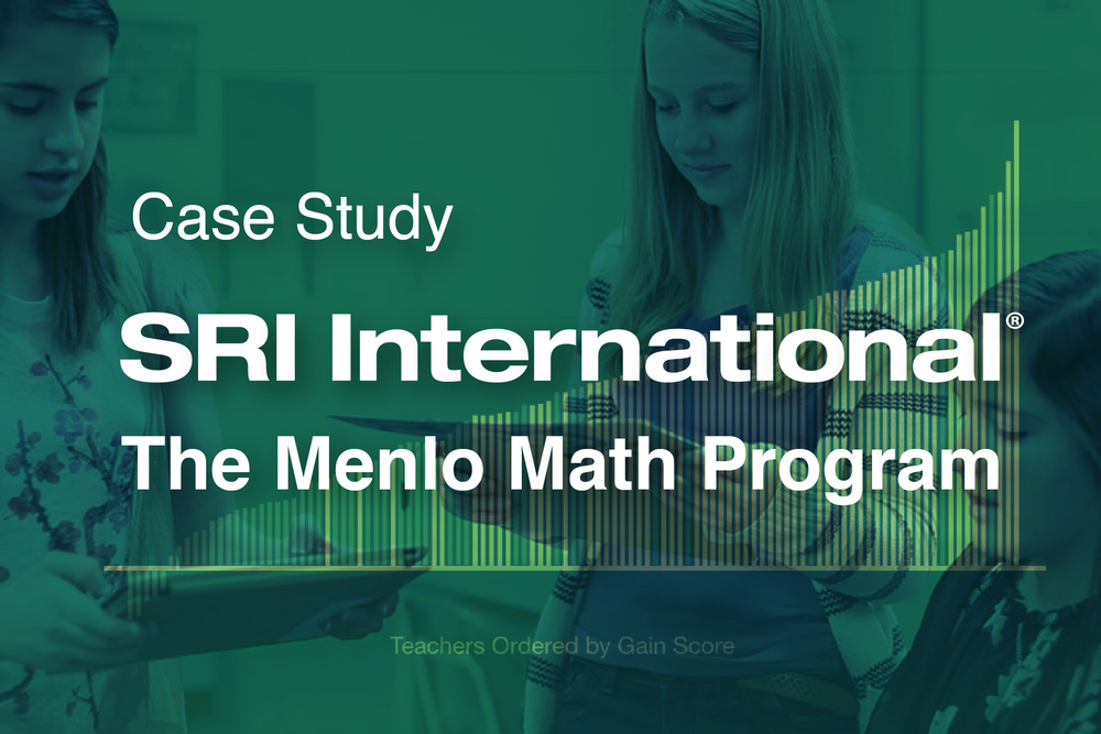 Case Study—SRI International: The Menlo Math Program Services offered: UX/UI Audit; Persona Development; Storytelling …