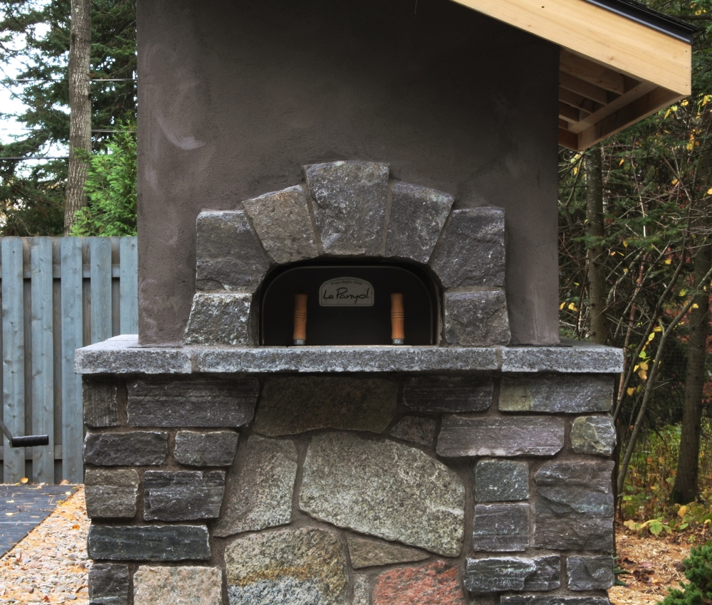 The Golcz's wood-fired baking oven in all its glory provides a great gathering place for the family and delivers artisan pizzas and even steaks!