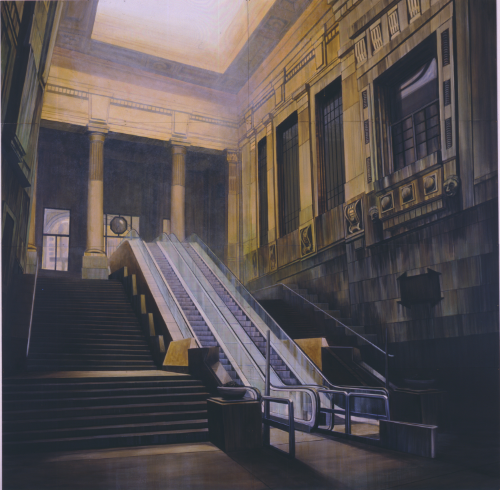 Station/Milan, 1992, 8x 8 feet, acrylic on panels