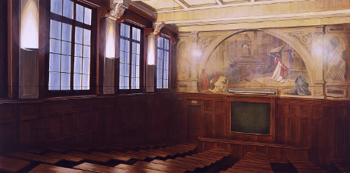 Sorbonne, 1994, 4 x 8 feet, acrylic on panels