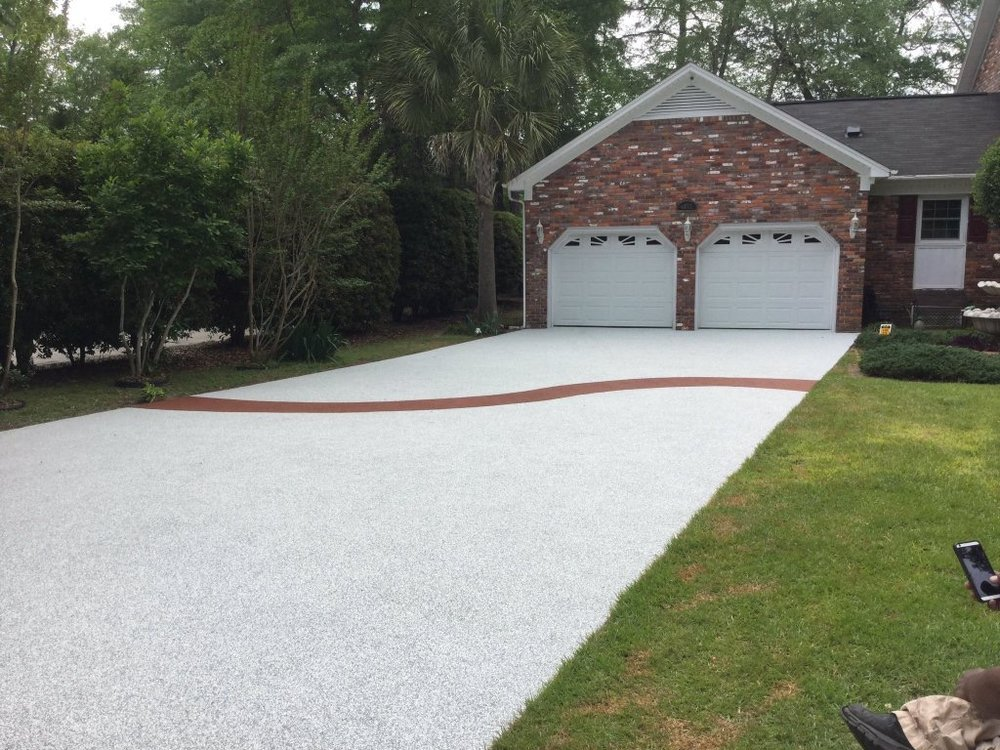 Driveways carolina surfacing driveway in solid black solutioingenieria Choice Image