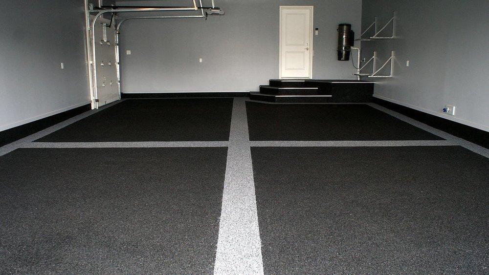 Garage Floor with Parking Lines