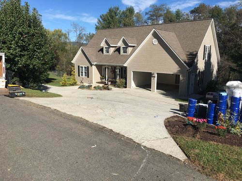 Driveways carolina surfacing before picture of cracked concrete driveway solutioingenieria Choice Image