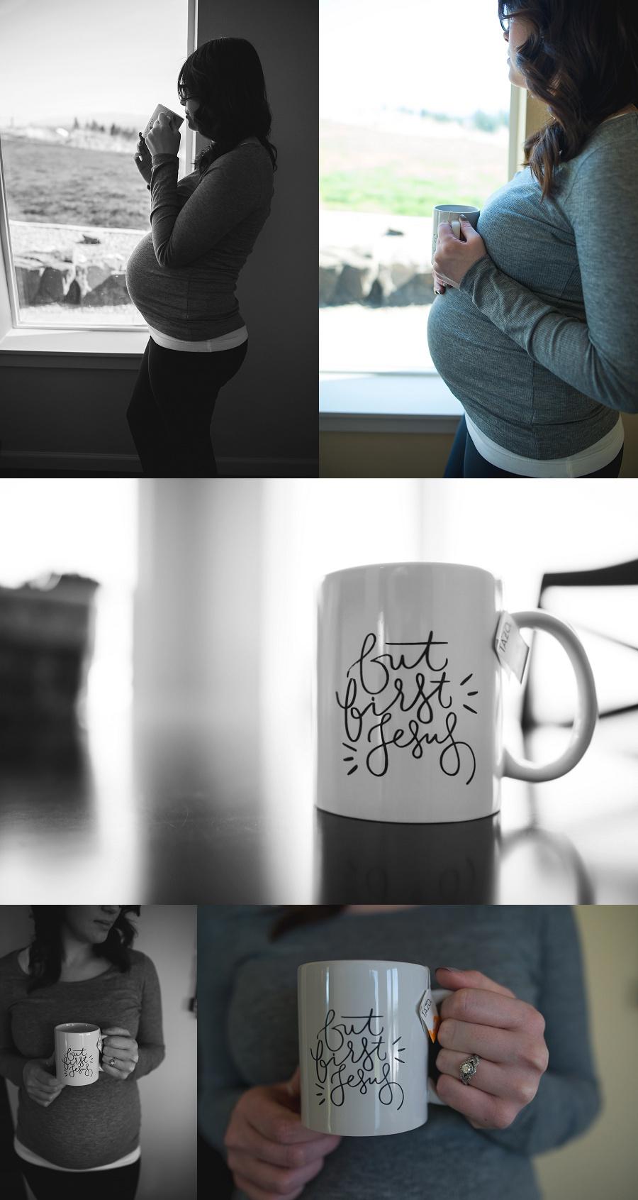 Lifestyle maternity photos by Nicole Briann Photography, Oregon