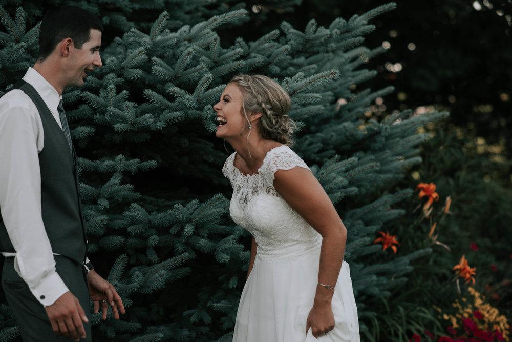 romantic oregon log house garden wedding