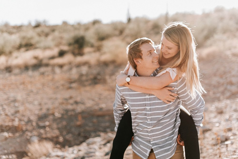 playful arizona desert engagement