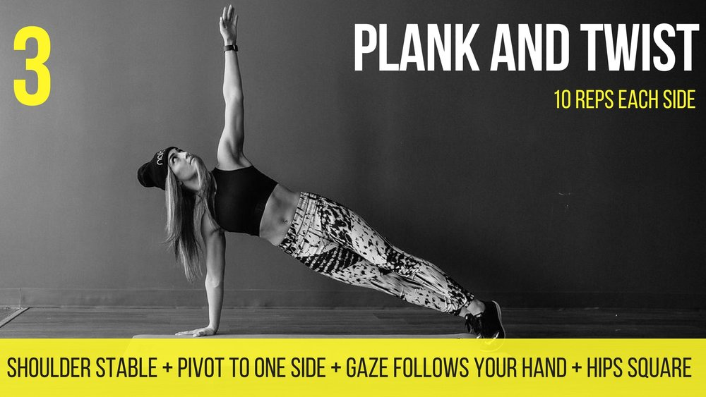 plank and twist