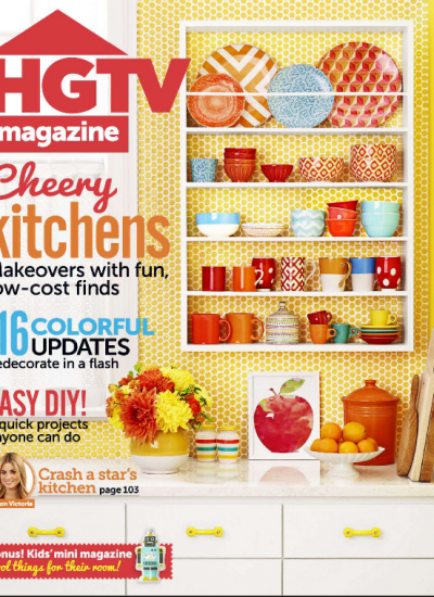 HGTV MAGAZINE, AUG 2014