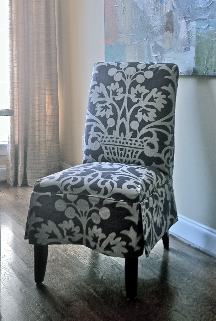 Slipcovered Parson's Chair