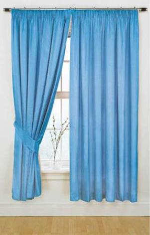 Awful Blue Curtains, much too short