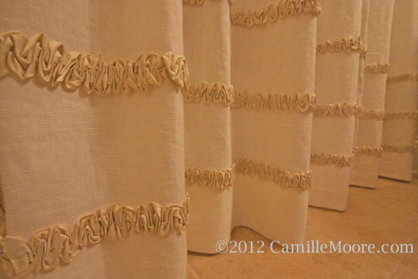 Close Up of Silk Rouching