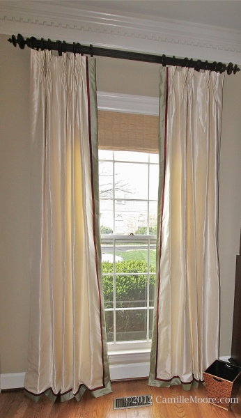 Silk Draperies with Double Banding, Design by Chelsea Frazer