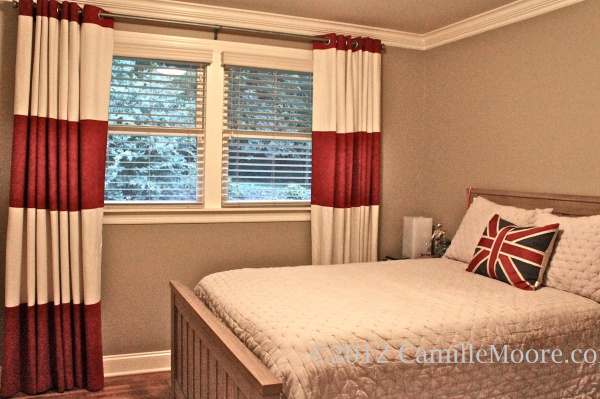Custom Made Striped Linen Curtains, Design by Mitzi Maynar