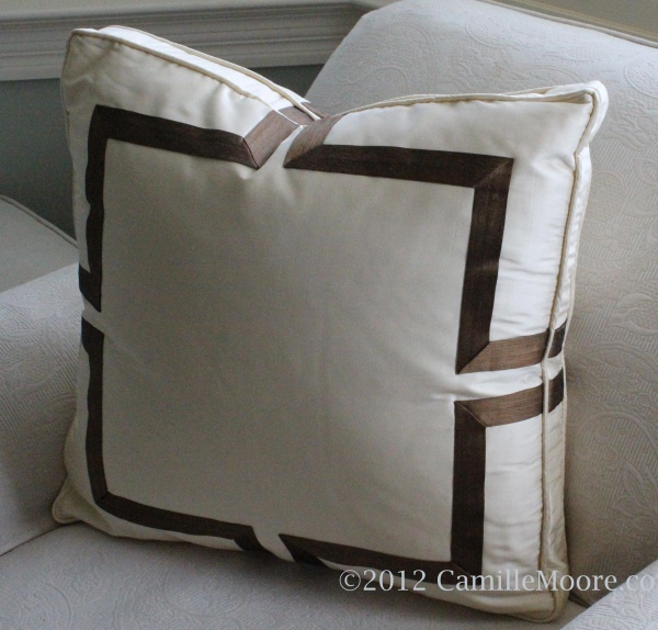 Boxed Pillow with Celtic Banding, Design by Camille Moore