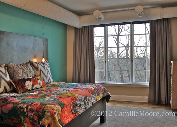 Contemporary Faux Silk Curtains, Design by Mitzi Maynard