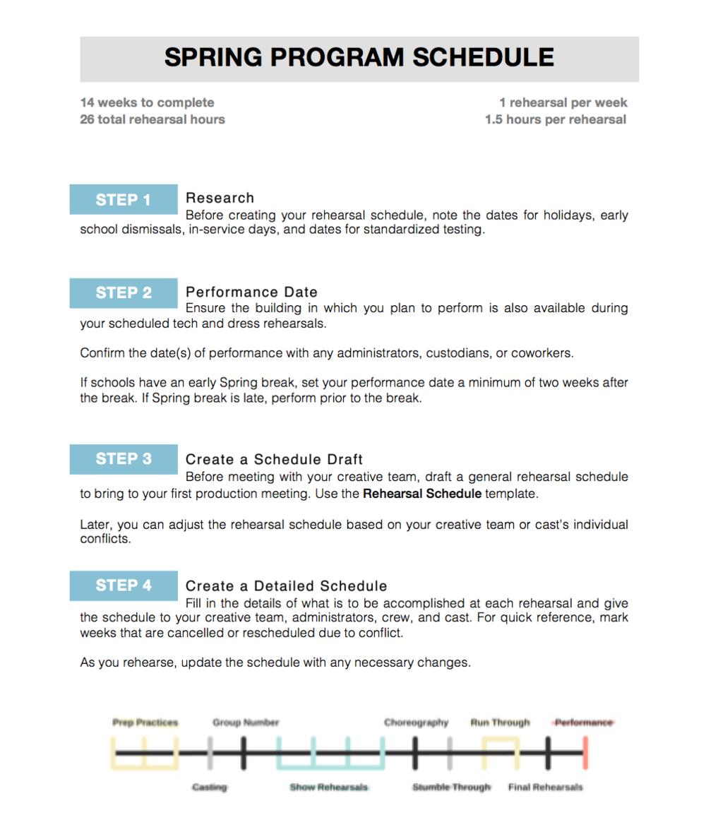 Spring Program Schedule -