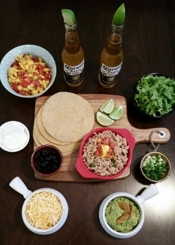 Build your own taco night