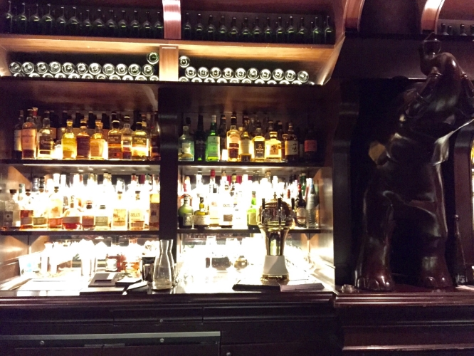 One of the bars at the Nomad Hotel. I wish I had taken more pictures including ones of our drinks (one of mine literally had an entire head of mint in it to simulate a palm tree!), but when you're having fun...