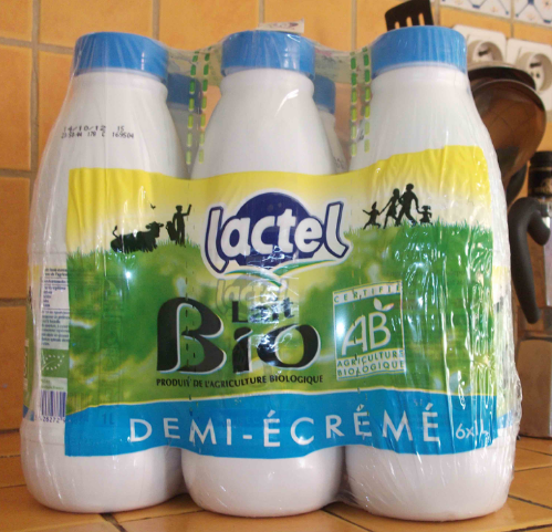 Our non-refrigerated milk. Quite the adjustment!