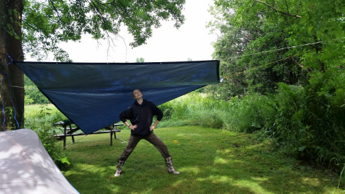 I had to include this. My friend was super proud that she got the tarp up, as this was her first time ever putting up a tarp! (FYI- we don't normally do any kind of roughing it camping, so every little step towards that is success in our eyes.