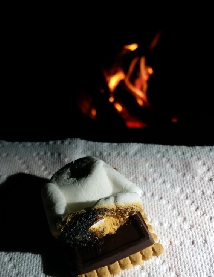 Ending off the evening with s'mores