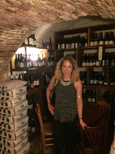 Le Bistro du Fromager- the restaurant is on an old wine cellar!