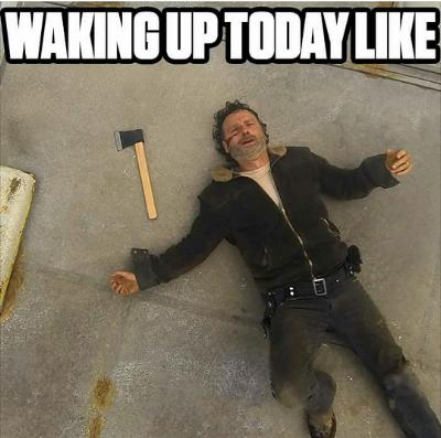 How walking dead fans felt waking up on Monday morning.